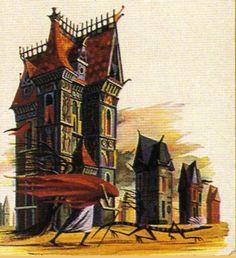 Bradbury kitap kapaklarında kullanılan illüstrasyonlar kitapların ruhunu hep iyi yansıtıyor. Yukarıdaki illüstrasyon September Country ( Sonbahar Ülkesi) için kullanılanlardan biri.