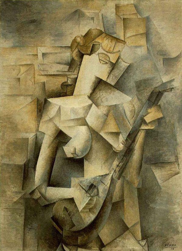Picasso Mandolinli Kız, 1910