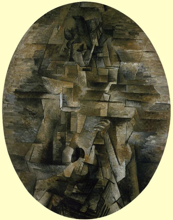 Braque, Mandolinli Kız, 1910