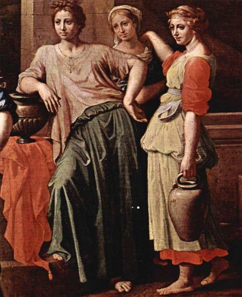 Poussin, Eliezer ve Rebecca (detay), 1648