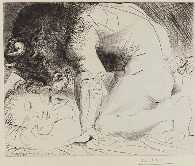 Picasso, Minotor Uyuyan Kadın, 1933