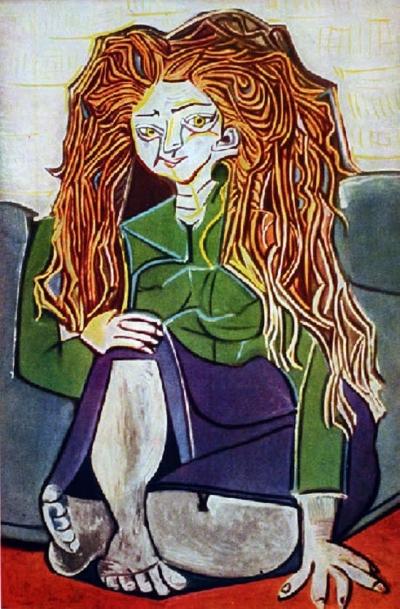 Picasso, Bayan H.P.'nn Portresi: Üslupçuluk örneği - Modelin uzun saçlı olmasından başka anlattığı pek bir şey yok. Burada Picasso tarafından resmedilmek dışında bir değer gözükmüyor.