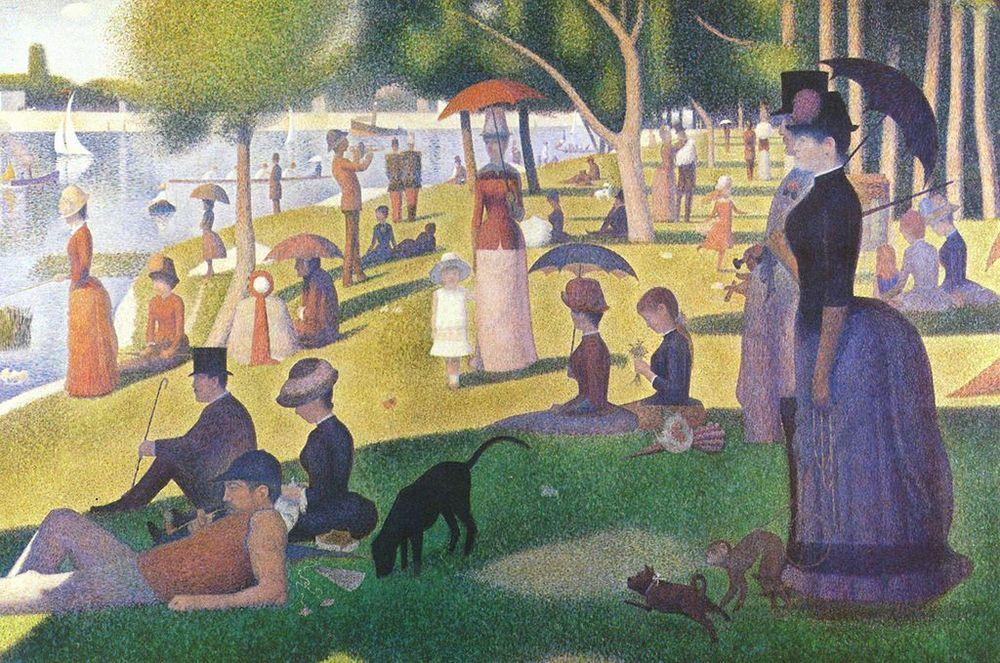 Georges Seurat Grande Jatte Adası'nda Bir Pazar Öğleden Sonrası1884-86