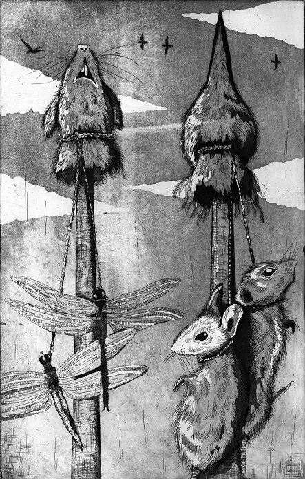Kurban Kazıkları: Frank'in ada savunmasında kullandığı totemleri. Grafik: Emma Codner