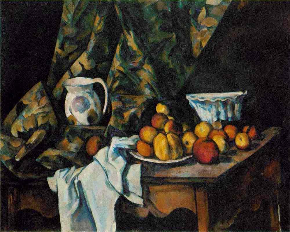 Paul Cezanne - Elmalı ve Şeftalili Natürmort (1905)