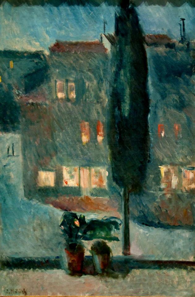 Edvard Munch (1863-1944)- Ay Işığındaki Selvi