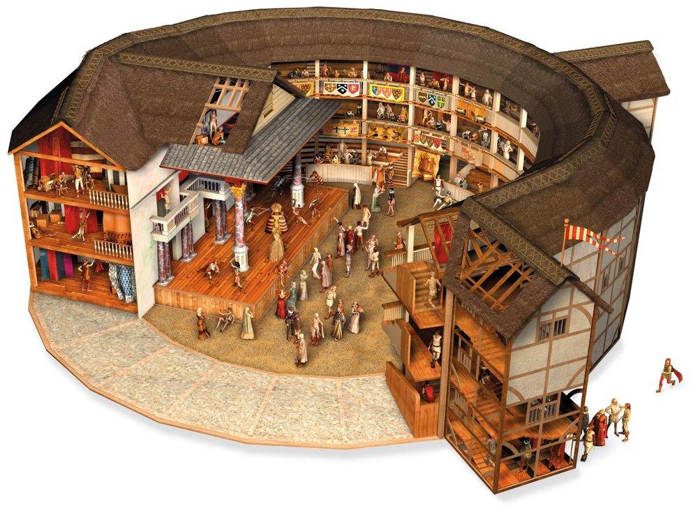 Globe Tiyatrosu Modeli - 1613 yılında VII.Henry oyunu sırasında ateşlenen top çatıyı tutuşturmuş ve bina tamamen kül olmuştur. Bina yenilenmiş ve 1640 yılında Londra'daki tüm tiyatroları kapatan kanuna kadar kullanılmıştır.