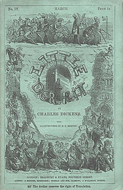 Küçük Dorrit Serisi Vol.4 Kapağı 1856 -Hablot Knight Browne ilüstrasyonu