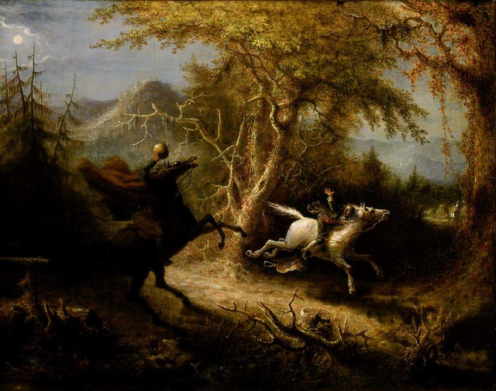 John Quidor - Başsız Atlı Ichabold Crane'i Kovalarken (1858)