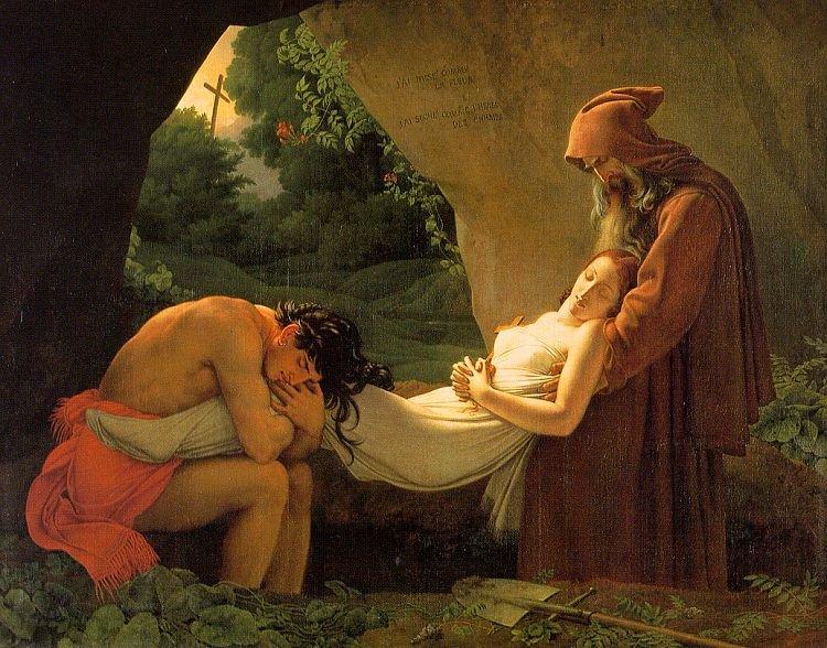 Girodet - Atala'nın Cenazesi (1808) - Bugün Lourve Müzesi'ndedir.