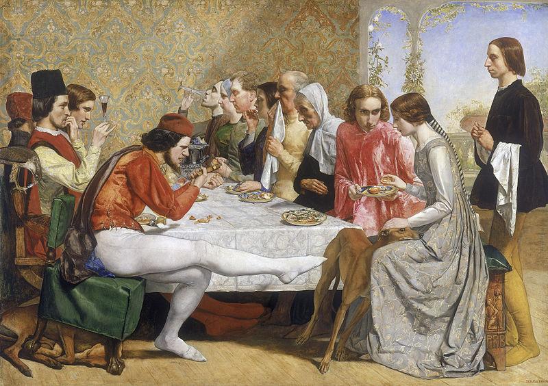 Everett Millais - Isabella (1849). Bugün Liverpool Walker Sanat Galerisi'ndedir.