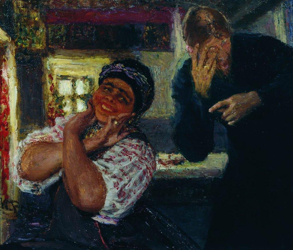 Ilya Repin - Solokha ve Papaz Yamagi (1926)