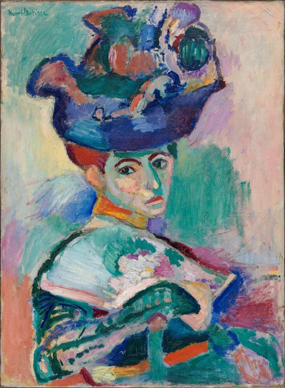 Henri Matisse - Şapkalı Kadın (Model: Madame Matisse)