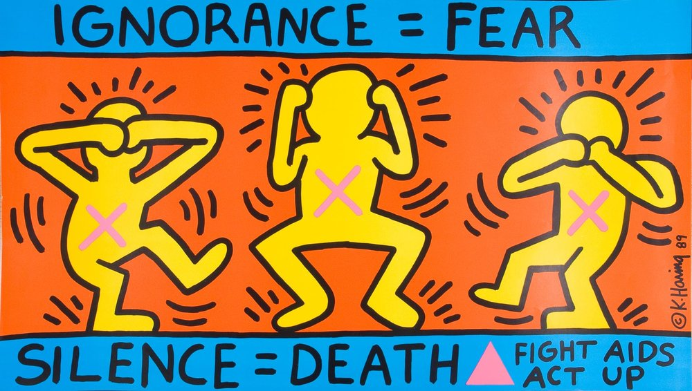 Keith Harring - Silence is Death / Act Up