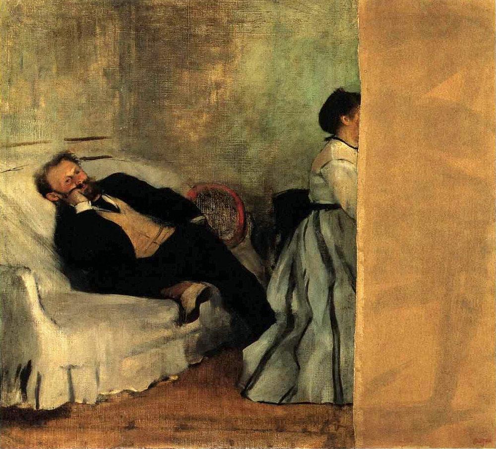 Edgar Degas - Mösyö ve Madam Manet
