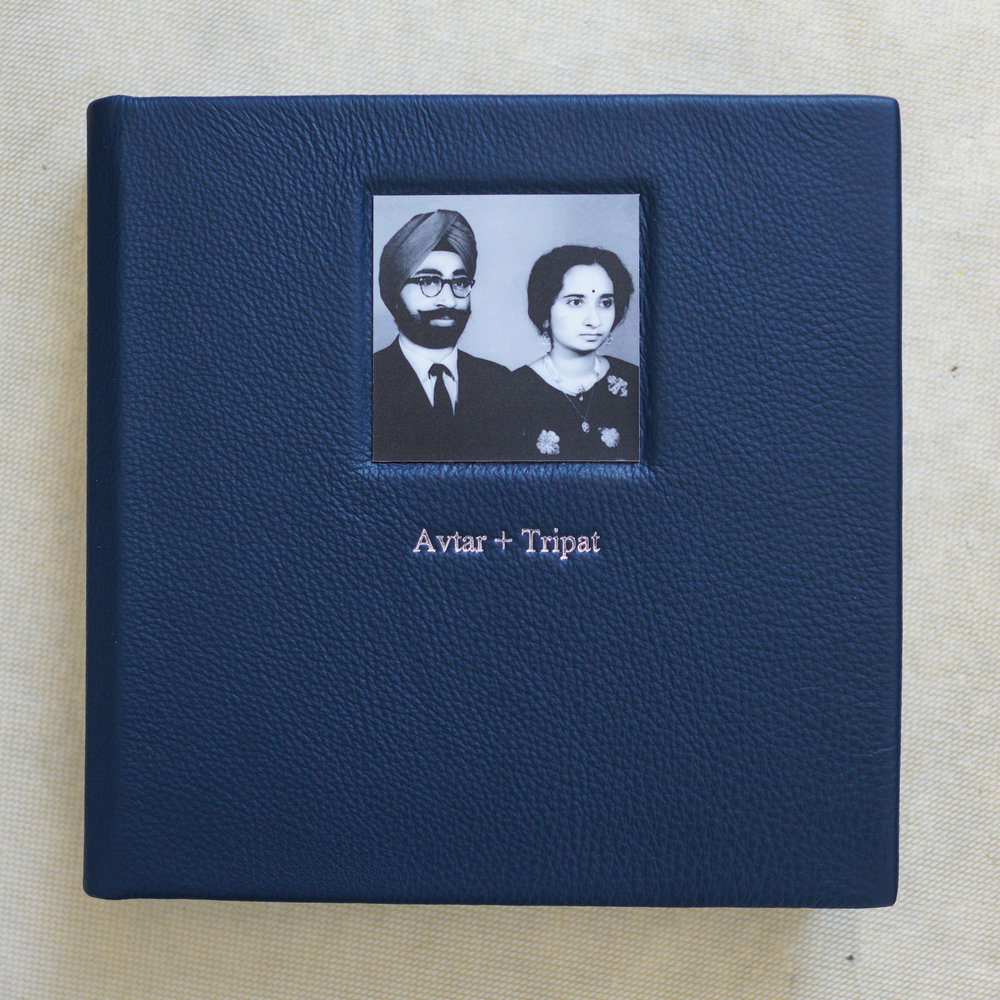 Avtar and Tripat decided to throw a surprise party for their father's 80th birthday. As a memento they created this 9x9 memory book and used one of the first images ever taken of their parents as a way to display their love.