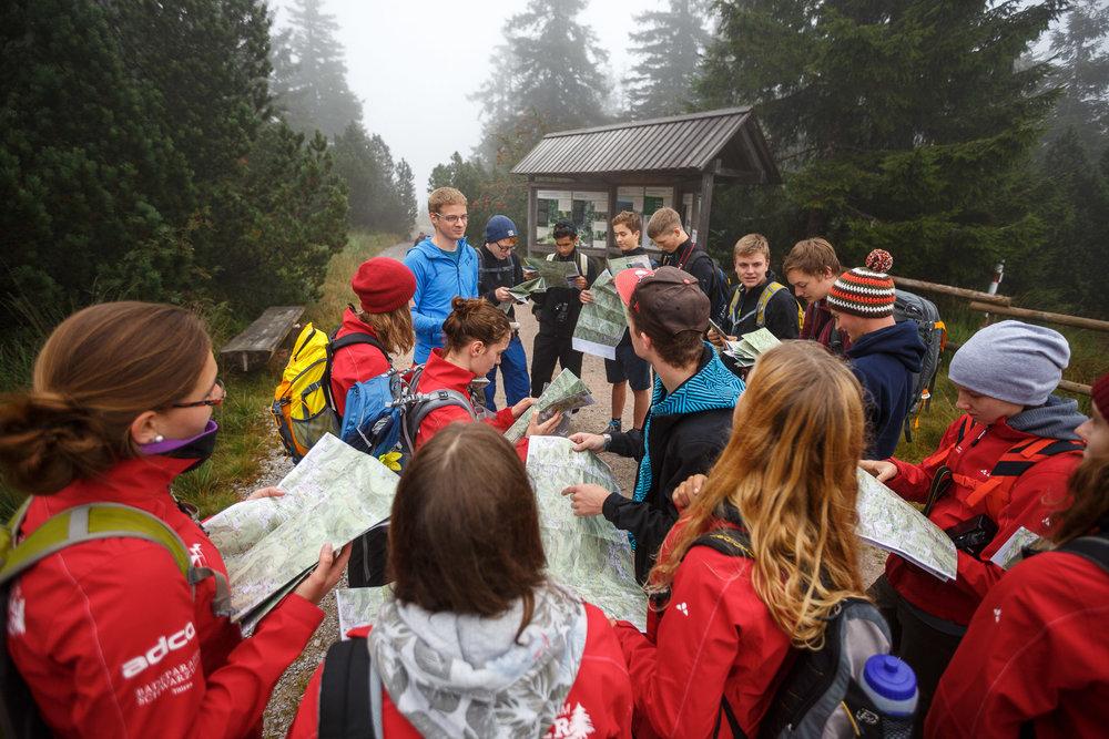 Map-Workshop mit der Jugend im Schwarzwald Verein.