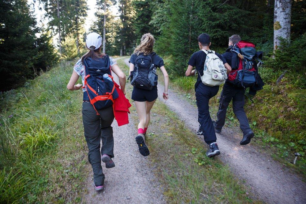 Wenn der Wettkampf und die körperliche Herausforderung Priorität bekommen, fällt die wunderschöne Natur des Nationalparks für einen kurzen Moment in den Hintergrund.