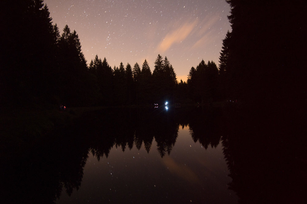 Fließende Sterne.