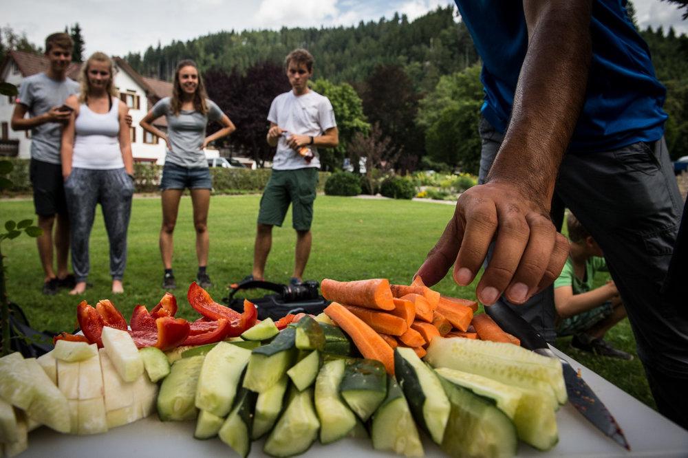 Grünfutter und Vitamine.