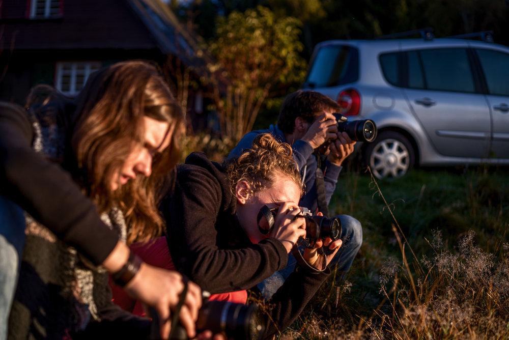Zeit fürs Fotografieren muss natürlich sein!  Foto: Simon Fuhrmann