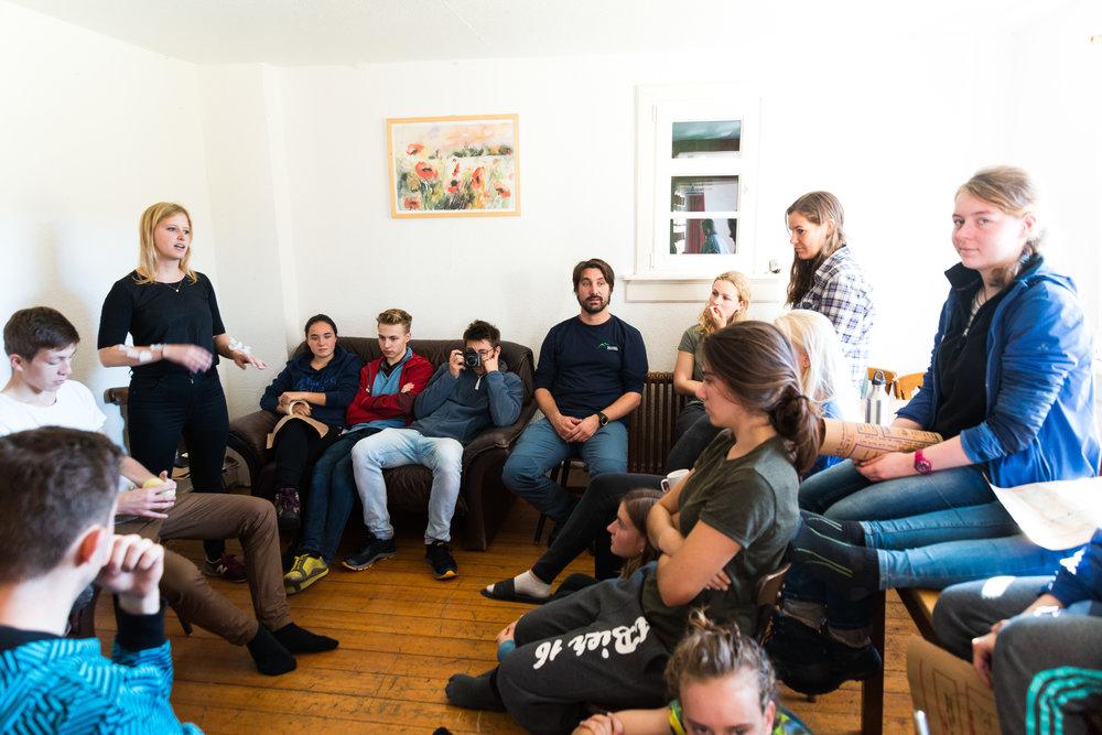 Workshop mit Sebastian Schwab vom Nationalpark.  Foto: Niklas Koch