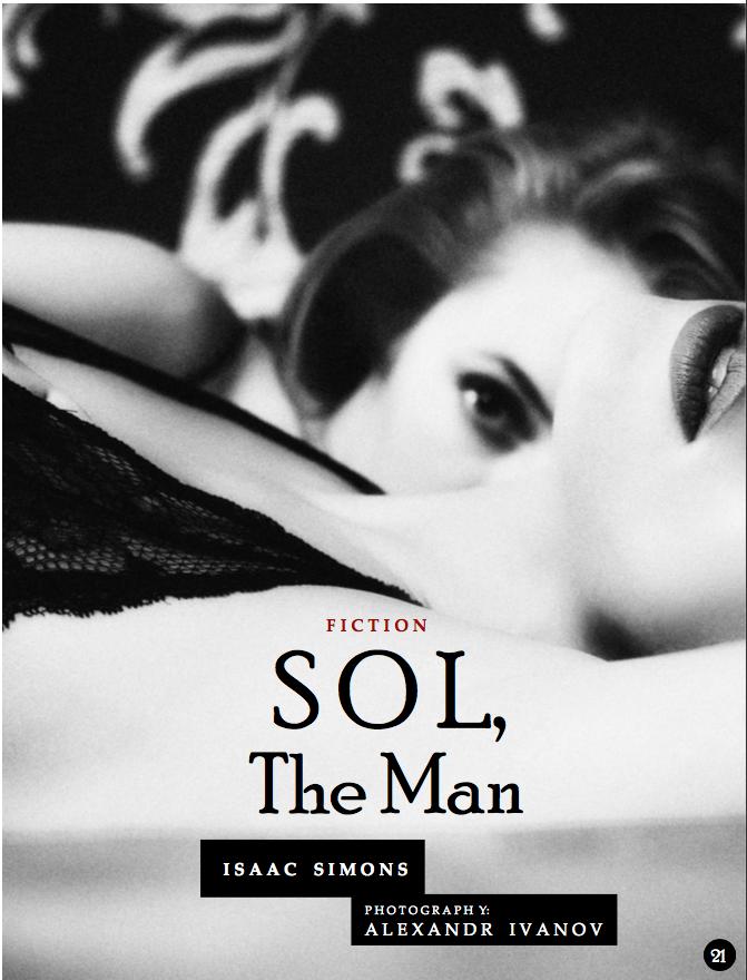 """""""Sol, the Man"""" in CultureCult Magazine #8"""