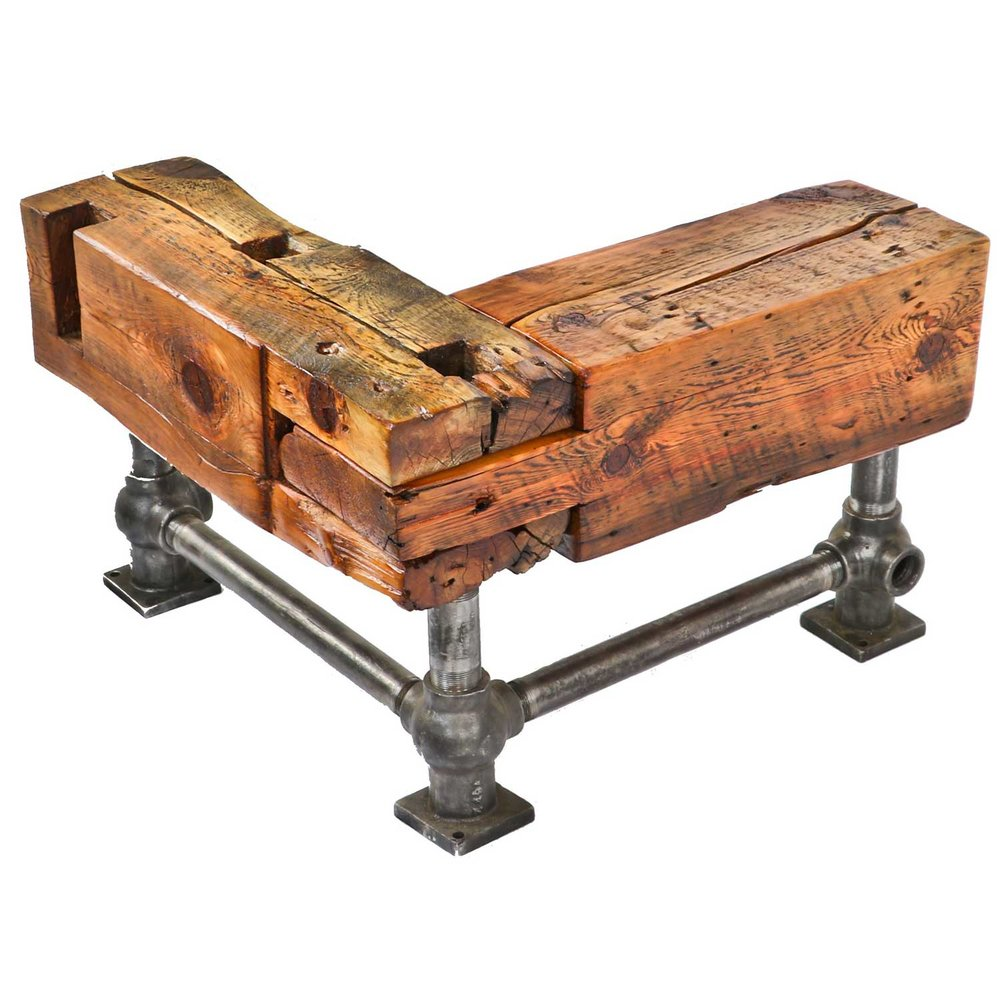 Barn Beam Corner Bench