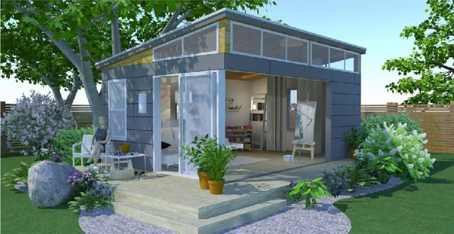 The Nicoletta Series  - Perfect for a Bunkie or Office, Studio or Personal Happy Place (PHP) - the possibilities are endless! Ask us about putting one of these innovative new buildings on your property.| CLICK FOR MORE |