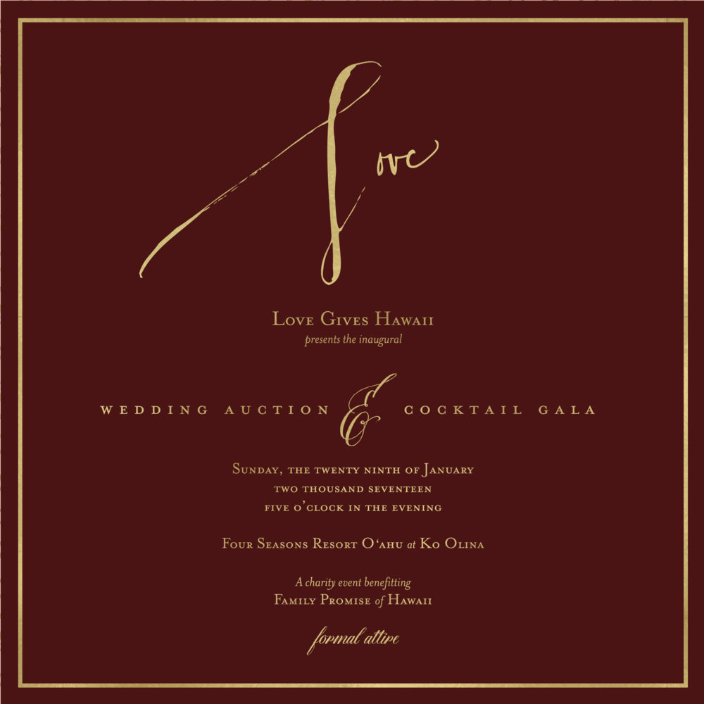 Gala Details — LOVE GIVES HAWAII