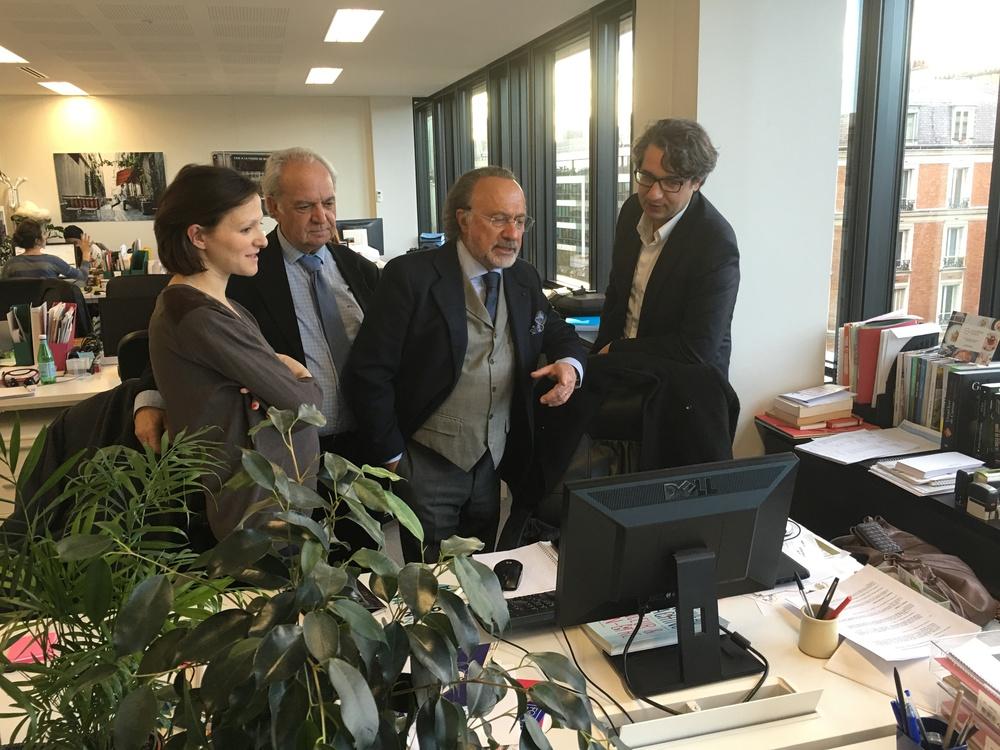 Olivier Dassault et Fernand Siré visitent Webedia