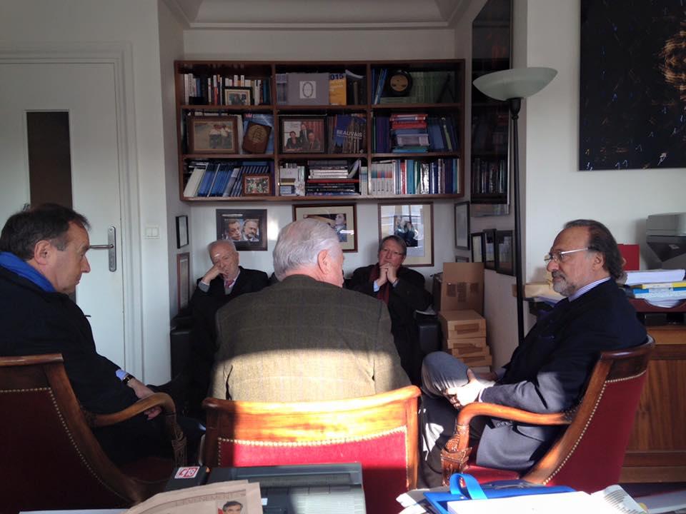 Avec Olivier Dassault, Président de GEEA et Jean-Michel Fourgous, délégué général