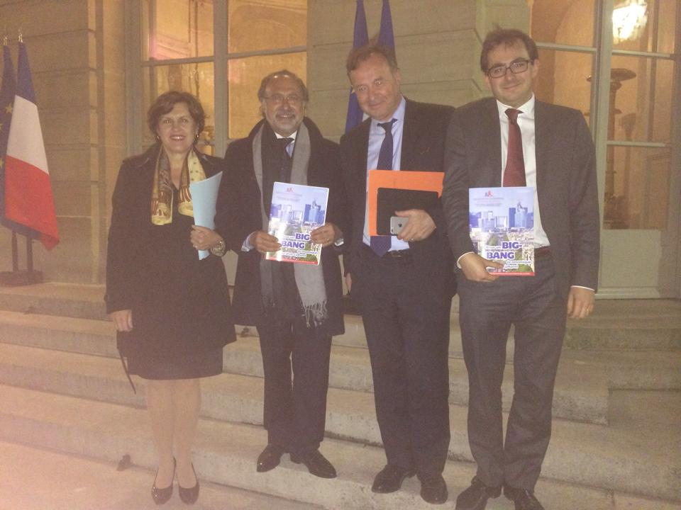 Avec Annie Genevard, Olivier Dassault et Jean-Michel Fourgous