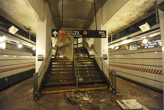 Damaged South Ferry Station in Lower Manhattan © Somayya Ali Ibrahim