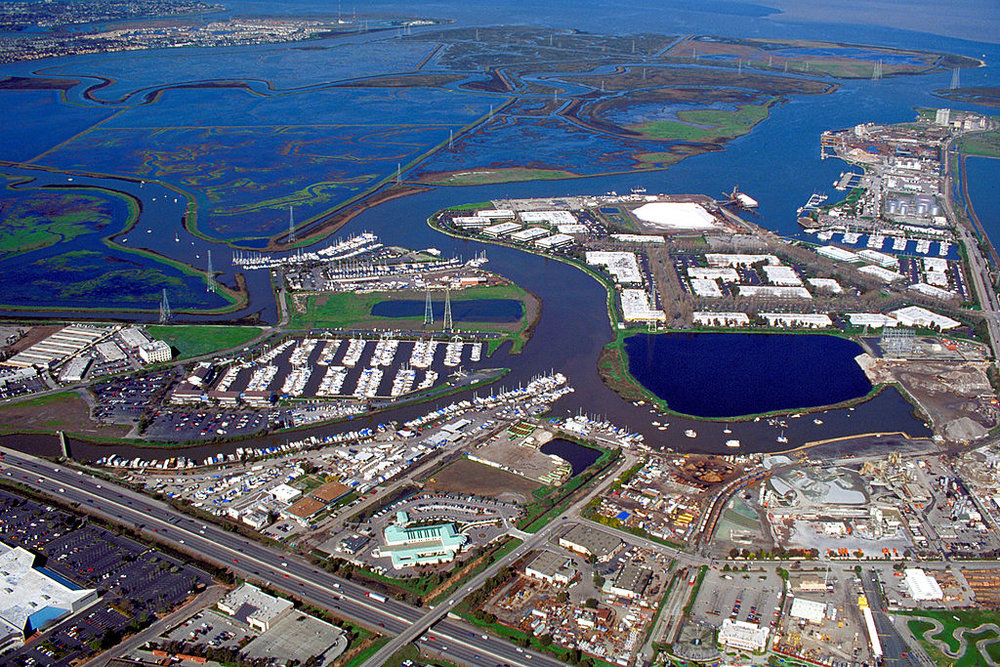 Aerial view of the port of Redwood City in San Mateo County, California, USA. © Creative Commons.