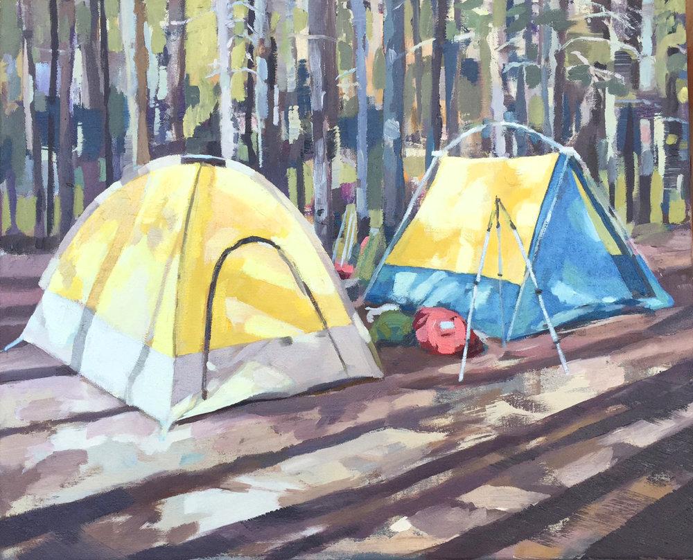 Tents. oil on canvas. 18u201d x 22u201d. 2016. sold & Places u2014 Kirsten Tradowsky