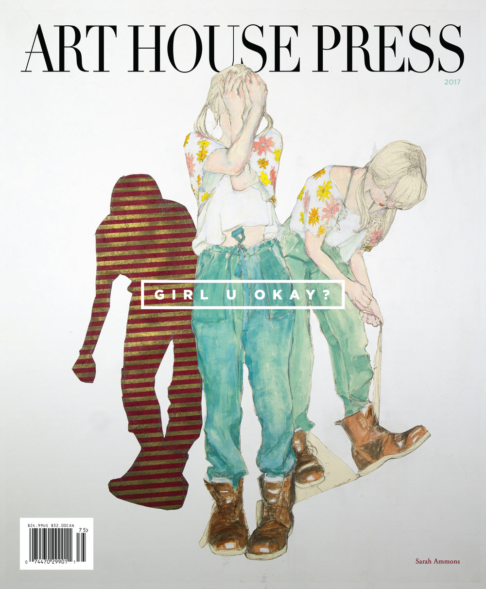 "Issue Three Art House Press - Cover Artist Sarah Ammons ""Call in the Clowns"", Cover Design by Marco Fesyuk"