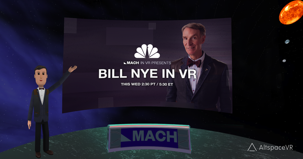 Bill Nye in VR from NBC MACH
