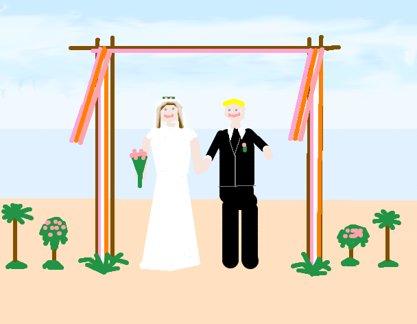 A picture I drew of me getting married. Hopefully this will become a reality within the next few years.
