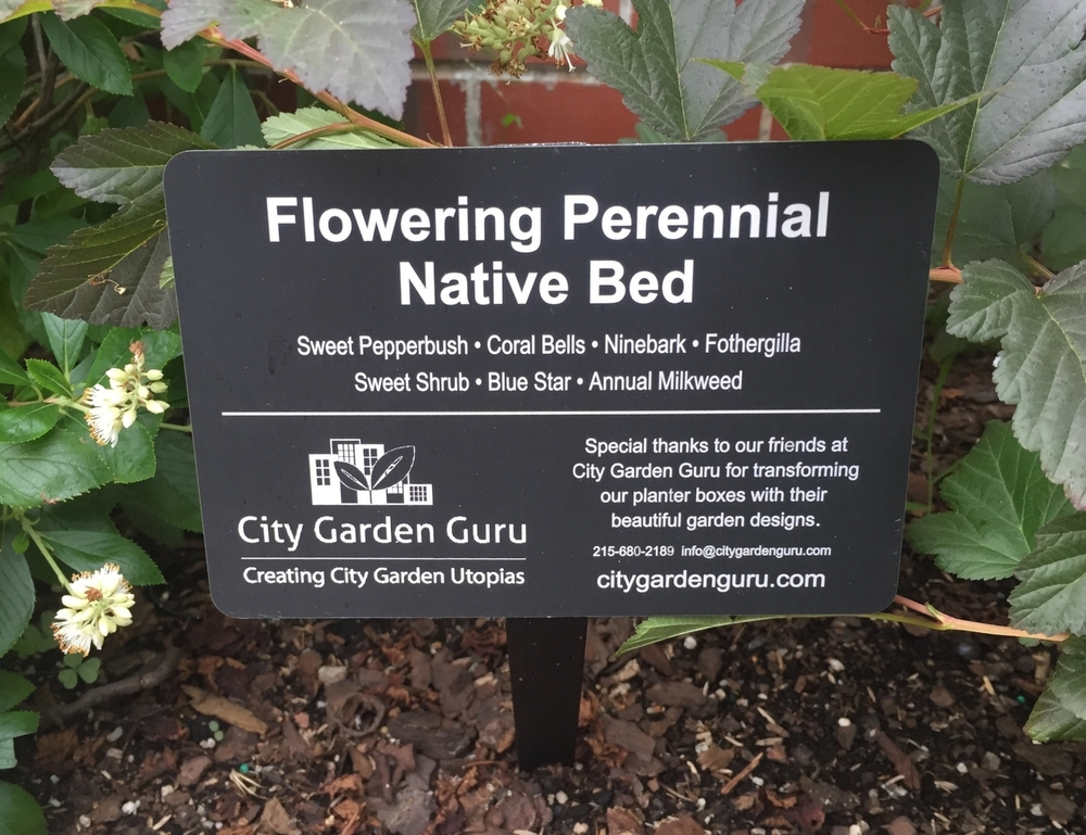 Perennial Native Bed Signs