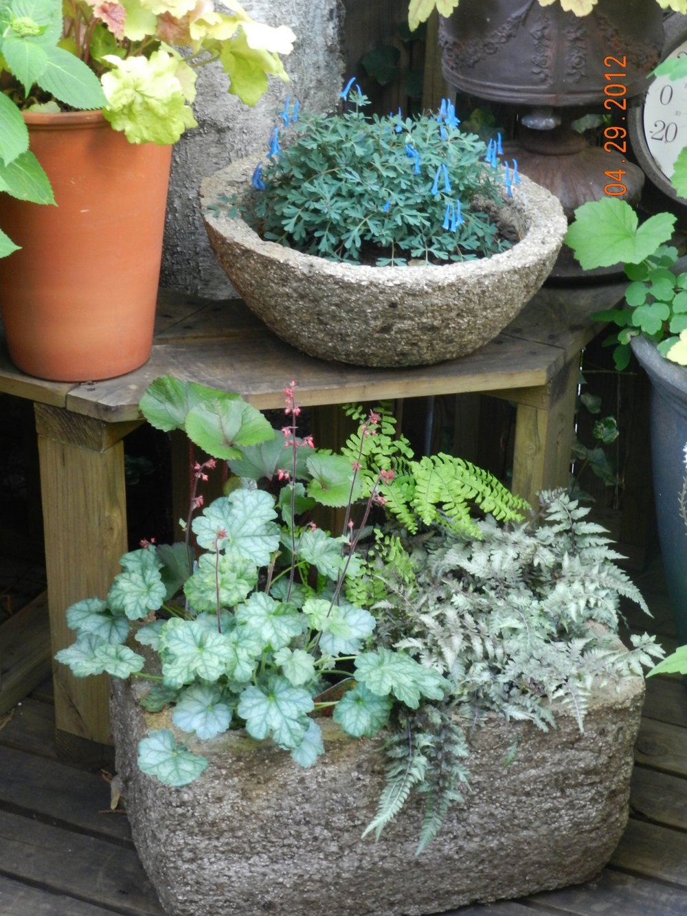 Hypertufa Shade Containers