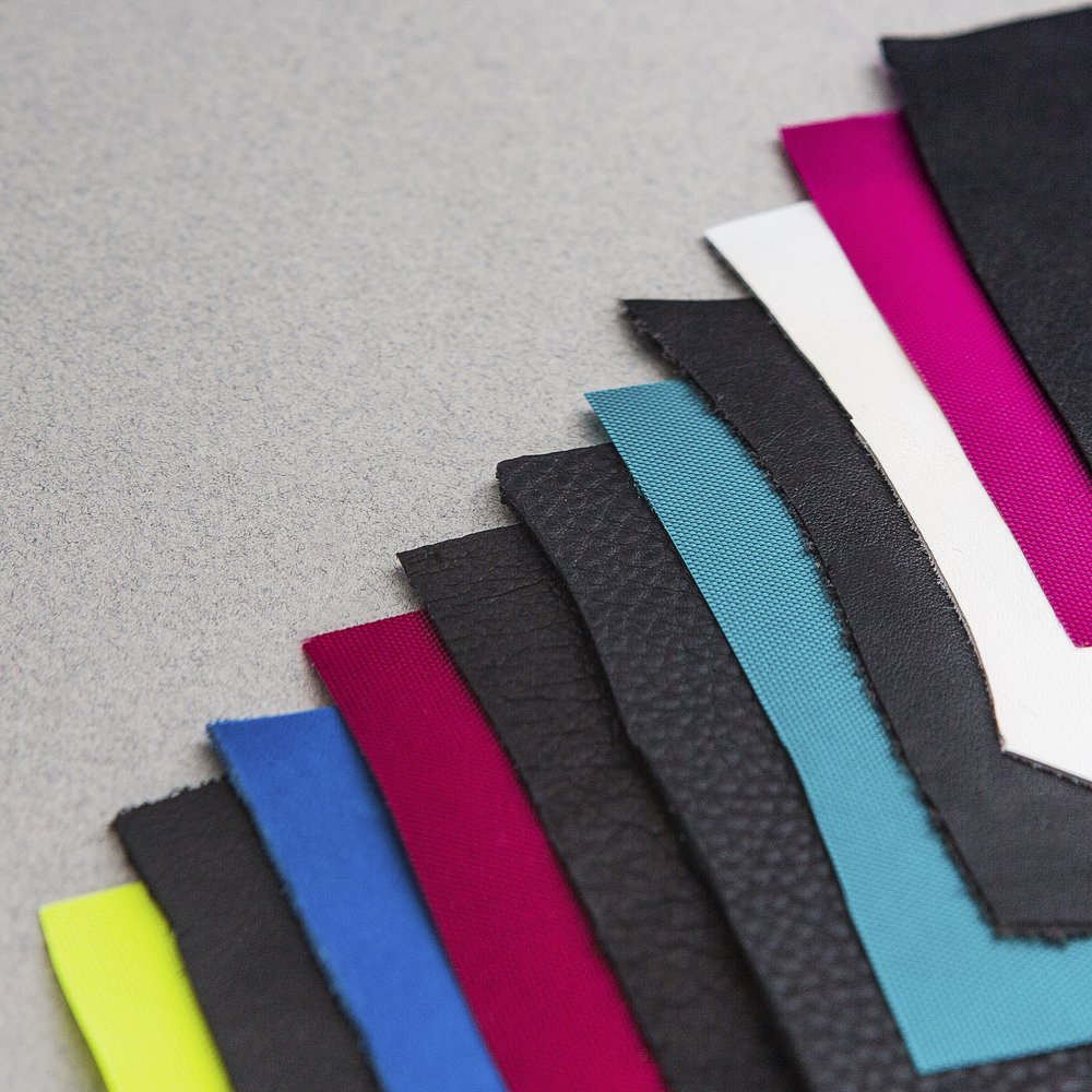 Leather & Lining Swatches for the Convertible Collection