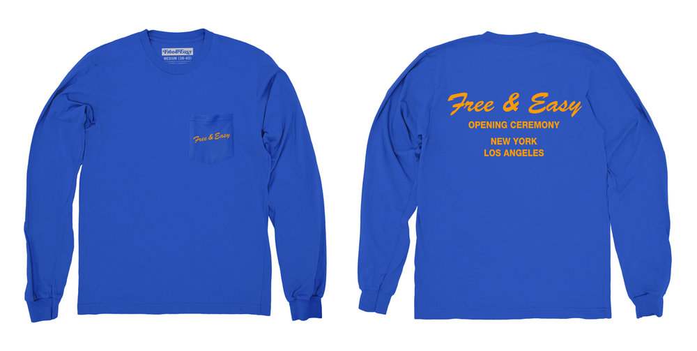 DELI LS POCKET TEE (ROYAL)