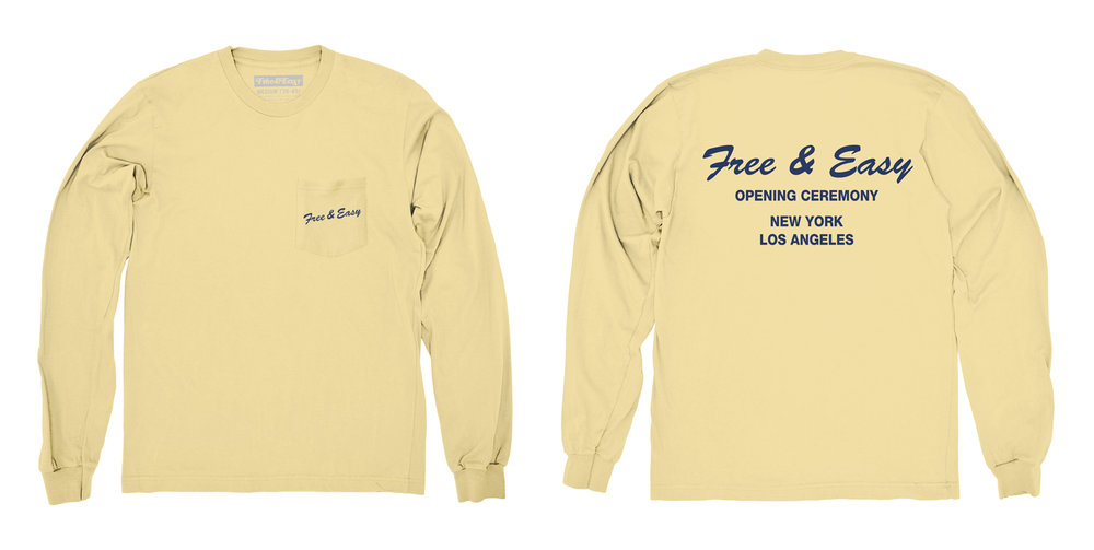 DELI LS POCKET TEE (PALE YELLOW)