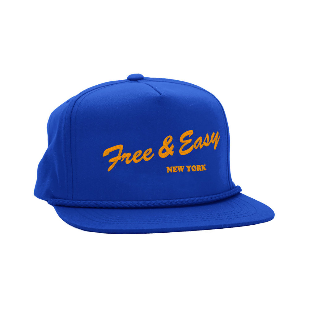 NY DELI CLASSIC HAT (ROYAL/ORANGE)