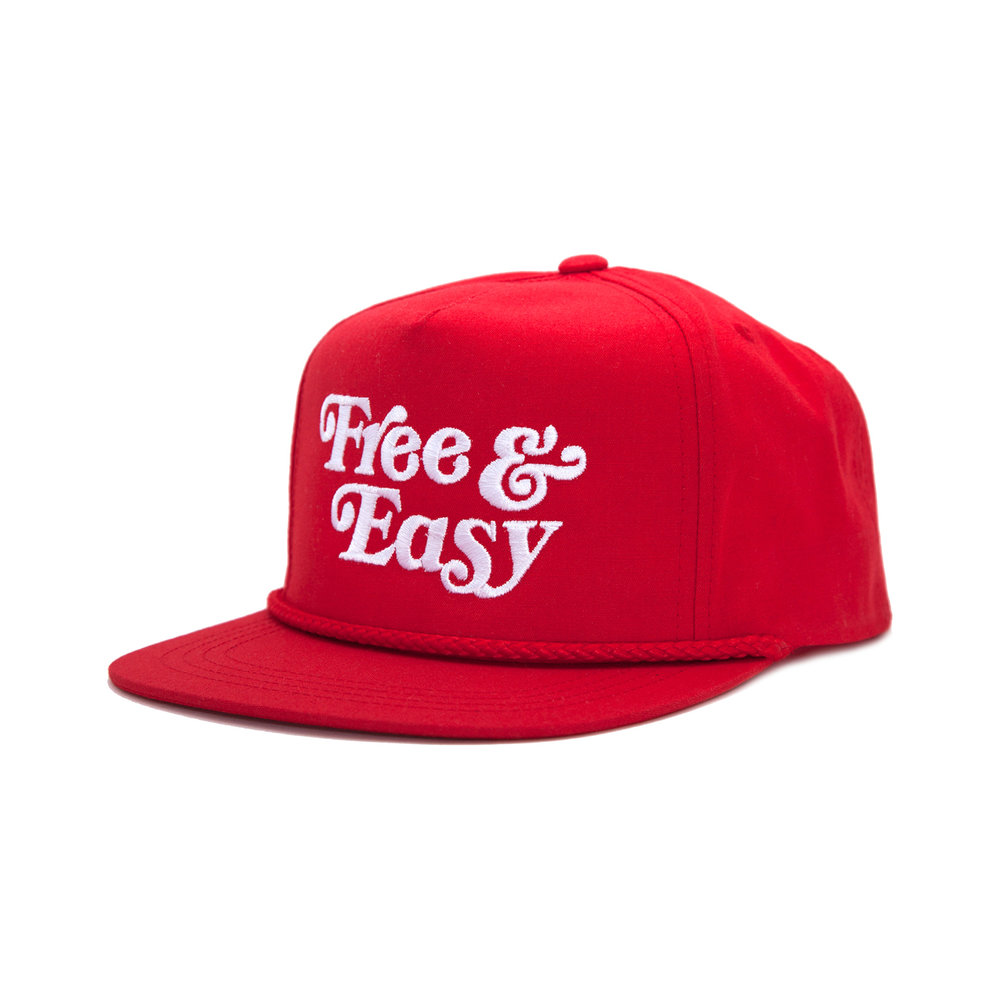 FREE & EASY CLASSIC HAT (RED/WHITE)