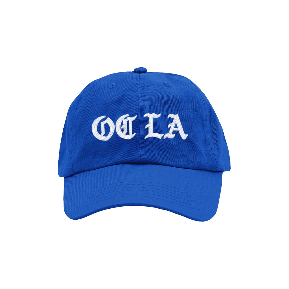 OC LA DAD HAT (ROYAL/WHITE)