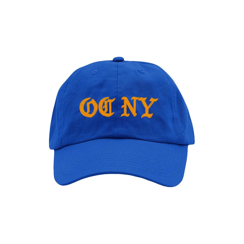 OC NY DAD HAT (ROYAL/ORANGE)