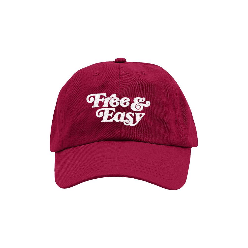 FREE & EASY DAD HAT (CARDINAL)
