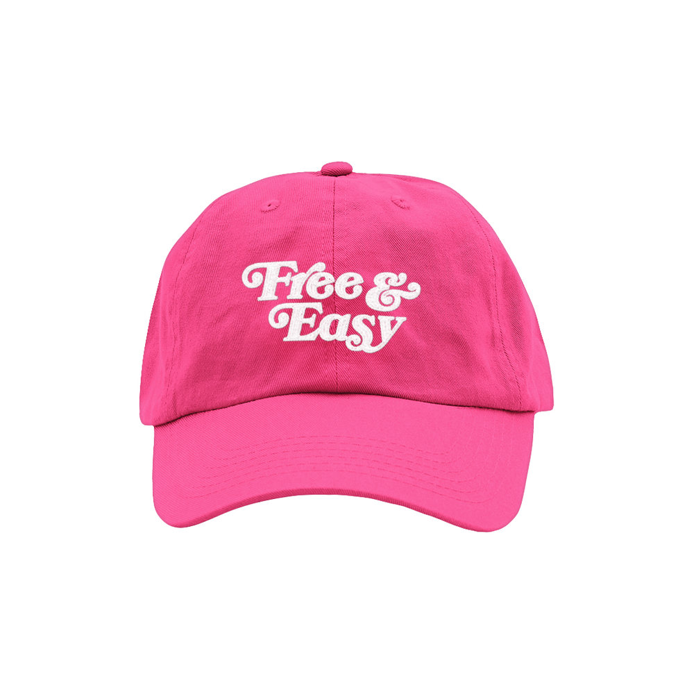 FREE & EASY DAD HAT (NEON PINK)